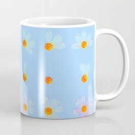 Love Me Not | Blue Daisy Flowers, Real Pressed Flowers, Pastel, Wildflowers, Photo Coffee Mug
