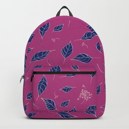 Autumn leaves and dandelions - deep pink design Backpack