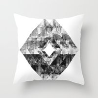 cityscape Throw Pillows featuring Cityscape   by To Be Design