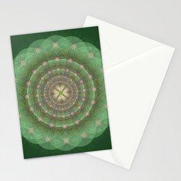 Blessing Mandala green - מנדלה ברכה ירוק Stationery Cards