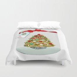 I'll Be Home For Christmas, Christmas Tree Globe Duvet Cover