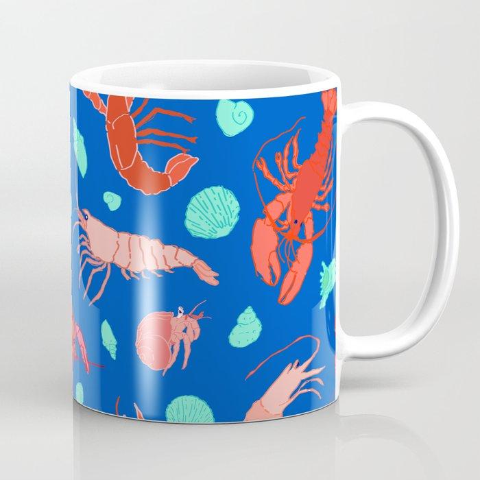 Dance of the Crustaceans in Ocean Blue Coffee Mug