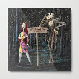 Halloween Town | Jack | Sally | Christmas | Nightmare Metal Print