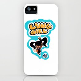 Lung Girl 2 iPhone Case