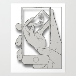 iFail Wet Paper (Picture This!) Art Print