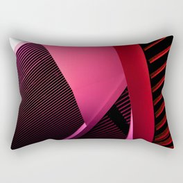 Urban Beauty in Pink Rectangular Pillow