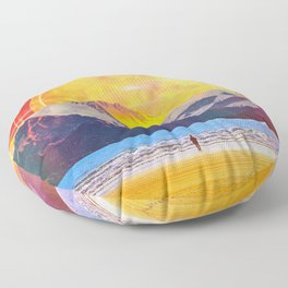 The Mountain At The Shore Floor Pillow