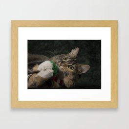 Arbor plays with her scarf! Framed Art Print