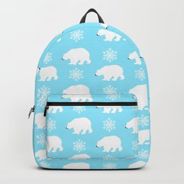 Polar bears with snowflakes Backpack