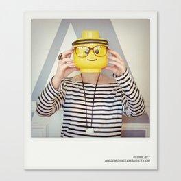 Minifig me ! – Everyone has a LEGO piece inside - 3 Canvas Print