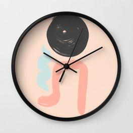 Peach and Blue Dreams Wall Clock