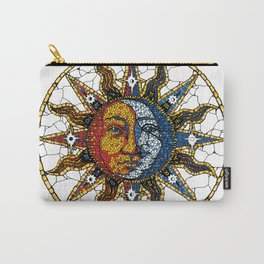 Celestial Mosaic Sun and Moon COASTER Carry-All Pouch