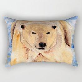 ours blanc Rectangular Pillow