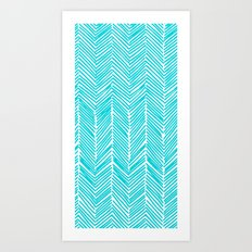 Freeform Arrows in turquoise Art Print