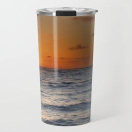 """""""Sancti Petri beach sunset"""" Travel Mug"""