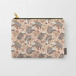 Opossum and Roses Carry-All Pouch