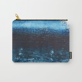 Lake Michigan: a pretty, minimal abstract piece in icy blues by Alyssa Hamilton Art Carry-All Pouch