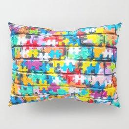 Rainbow Puzzle Pillow Sham