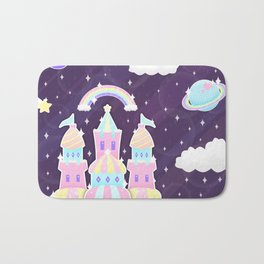Dreamy Cute Space Castle Bath Mat