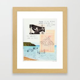 mountains out of molehills Framed Art Print