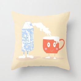 Milky Couple Throw Pillow