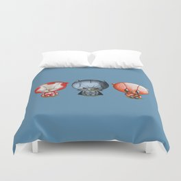 Three Little Hero's Duvet Cover