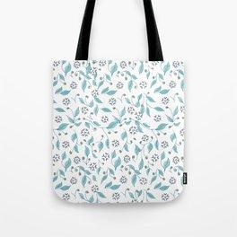 Blooming Hearts Flower Pattern Tote Bag