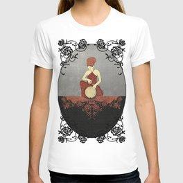 Rastafari Woman on Bongo Drum T-shirt