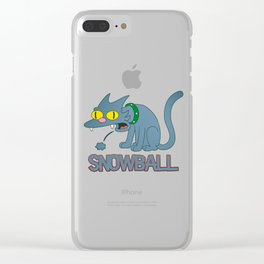 Snowball - Simpson Clear iPhone Case