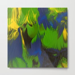 Green flame Metal Print