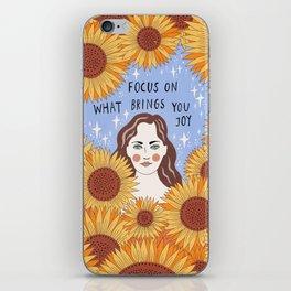Focus on what brings you joy iPhone Skin