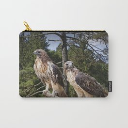 Pair of Red-tail Hawks Carry-All Pouch