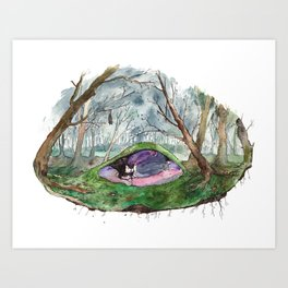 Dreaming of a forest Art Print