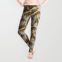 Tigers (Gray and Marigold) Leggings