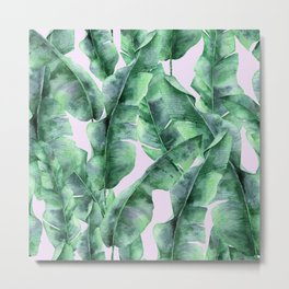 Banana Leaves Metal Print