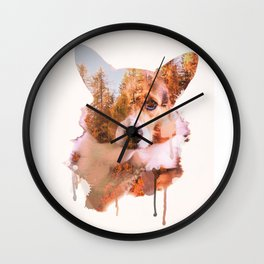 Corgi Forest Wall Clock