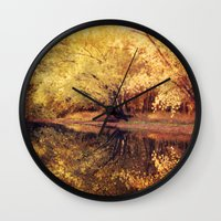 wisconsin Wall Clocks featuring Wisconsin River by KunstFabrik_StaticMovement Manu Jobst