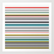 grey and colored stripes Art Print