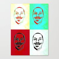 actor Canvas Prints featuring Character Actor by Chiz Pimento
