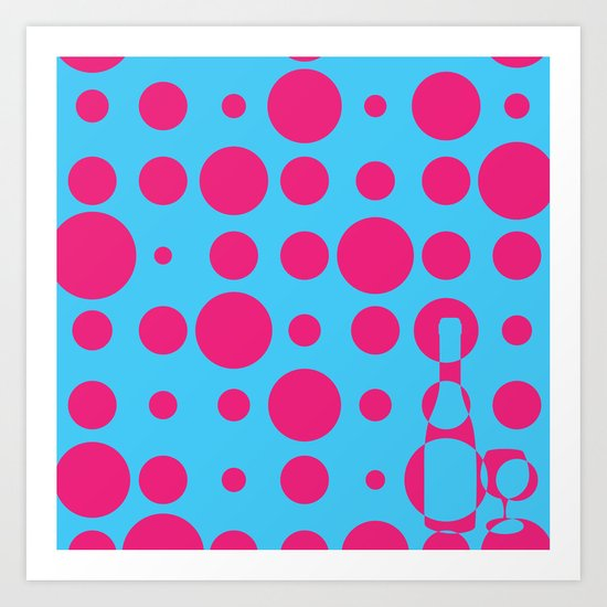 BUBBLY WINE Art Print