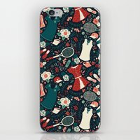 tennis iPhone & iPod Skins featuring Tennis Style by Anna Deegan