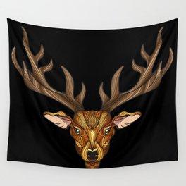 Deer Park- MI_Brown on Black Wall Tapestry
