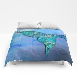 Sparkly Mermaid Tail Fin Comforters