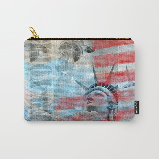 Lady Liberty Stars and Stripes Patriotic Artwork Carry-All Pouch