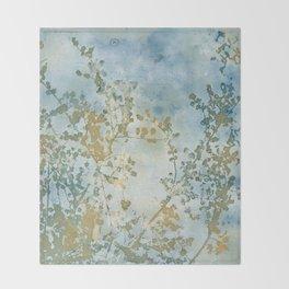Hazy Days Wet Cyanotype Throw Blanket