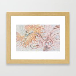Arch Angel and the Dragon Framed Art Print