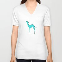 greyhound V-neck T-shirts featuring Greyhound by eDrawings38