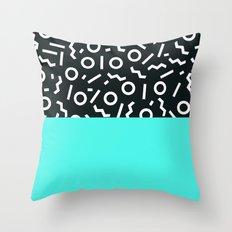 Memphis pattern 48 Throw Pillow