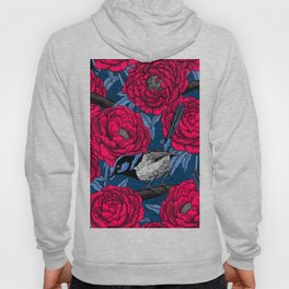 Wrens in the peonies Hoody