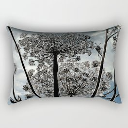 Queen Anne's Lace from a bug's view Rectangular Pillow